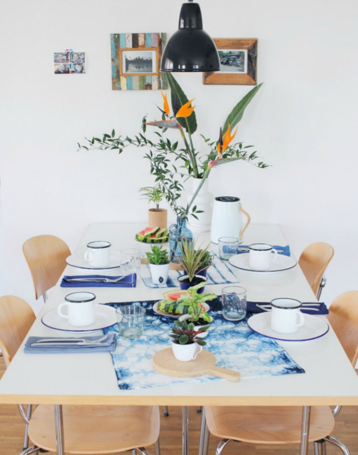 Decoraci n f cil mesa para desayuno de verano sencilla y refrescante - Mesas de desayuno ...