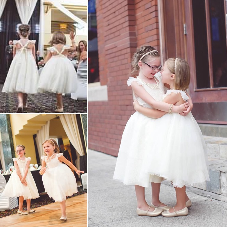 Boho romantic flower girl dresses handcrafted in Michigan by Daydream Believers Designs
