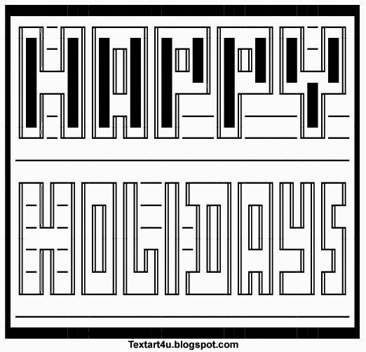 Art happy ascii Facebook ASCII