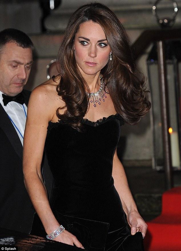 All About Kate Kate Wears Strapless Black Velvet Mcqueen