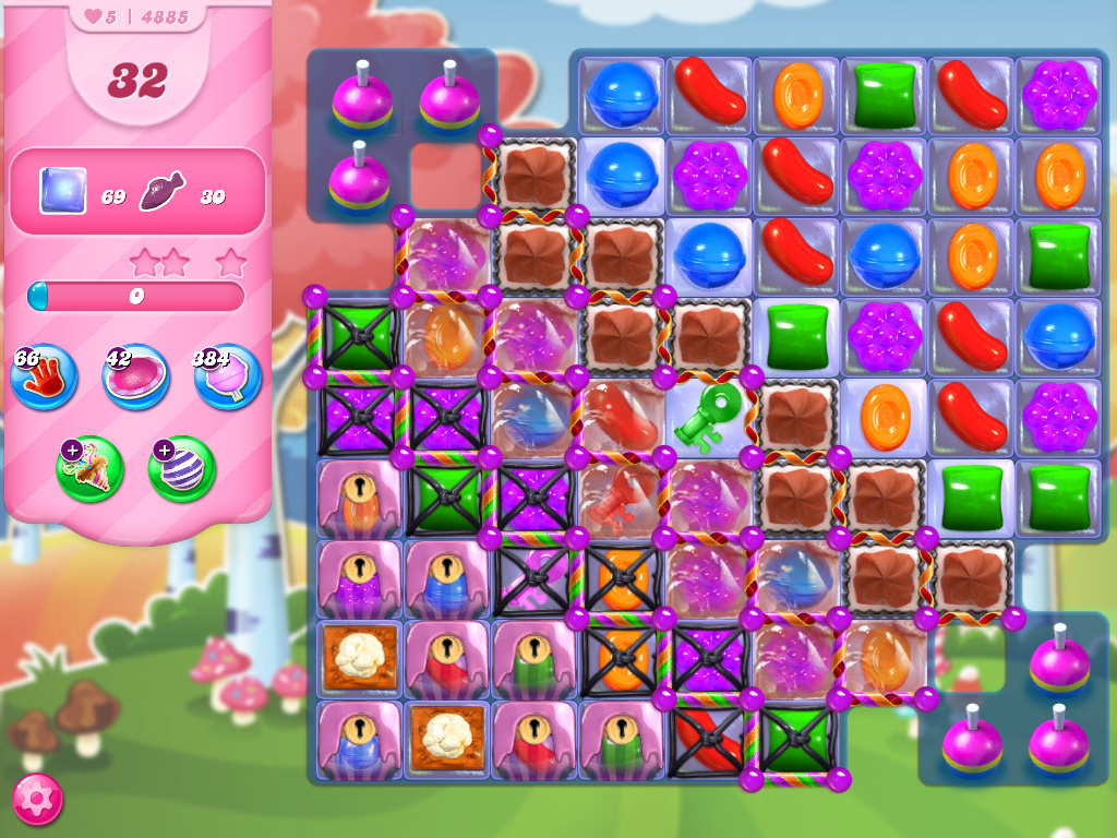 Candy Crush Saga level 4885