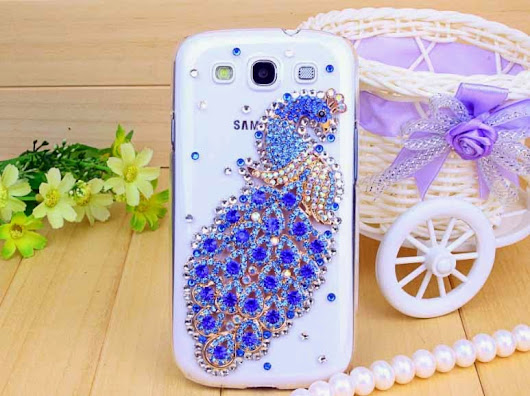 New Latest blue transparent peacock cover case for Samsung and iPhones