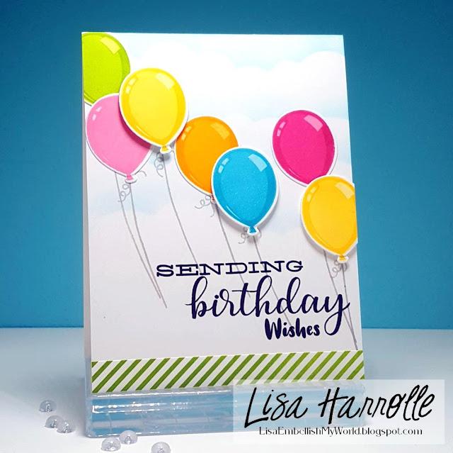 Sunny Studio Stamps: Birthday Balloon Customer Card Share by Lisa Harrolle