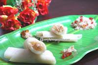 Maida appam / Coconut filled pancakes