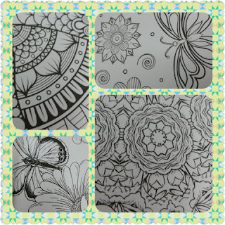 Stress Less Coloring Butterfly Gardens collage 2