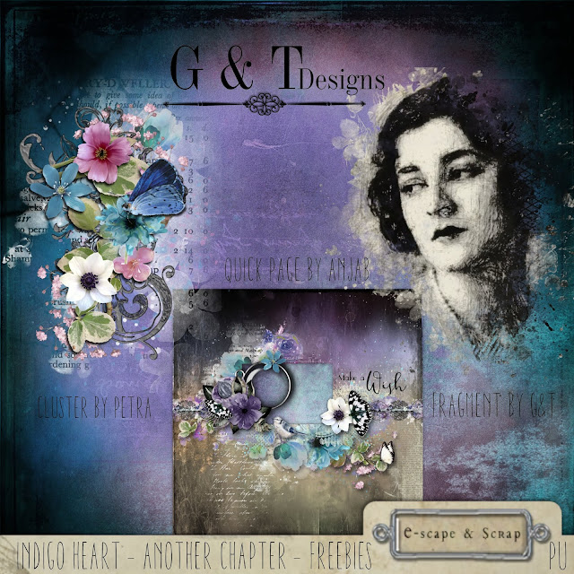 G&T Designs - Indigo Heart - Another Chapter & Freebies