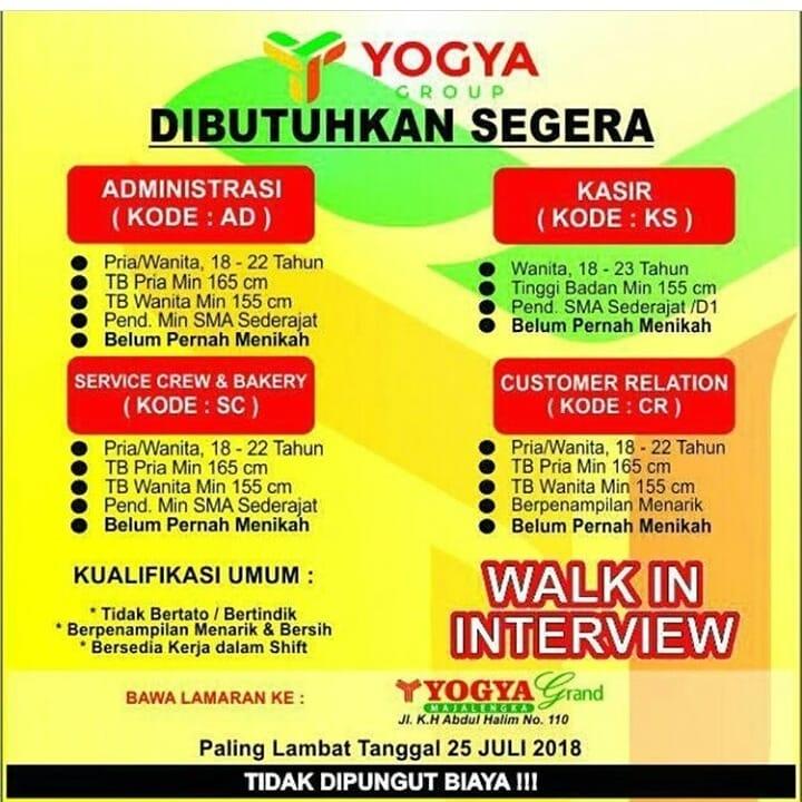 Lowongan Kerja Yogya Majalengka Di Jl Kh Abdul Halim 2021