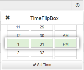 IOS, Android Style jQuery TimeFlipBox Time Picker Plugin