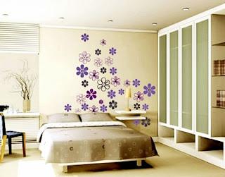 Contoh Model Gambar Wallpaper Dinding Rumah Minimalis Kamar Tidur