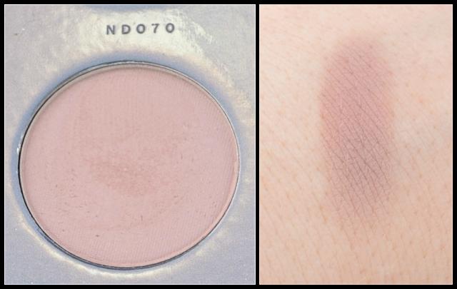 Zoeva nude spectrum Palette ND070 und Swatch