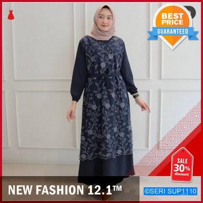 SUP1110G22 Gamis Swan Tile Moscrepe Dress Premium BMGShop