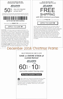 free Joann coupons for december 2016