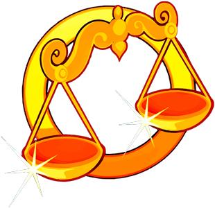 Imagen de una Balanza de color dorada que representa al signo zodiacal Libra