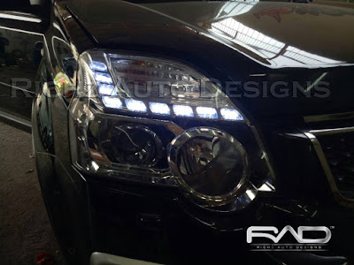 custom DRL crystal line - headlamp nissan xtrail 2010