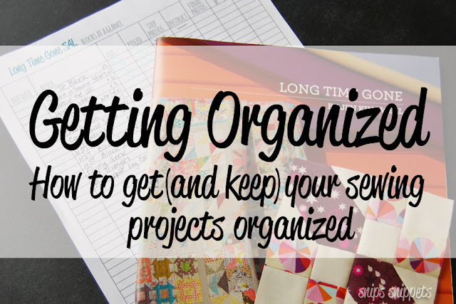 organizing your sewing projects