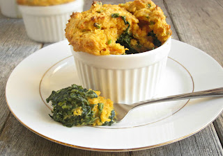 Creamy Spinach with a Sweet Potato Dumpling Crust