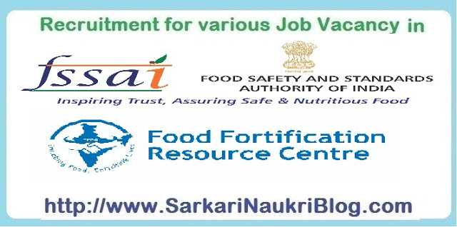 Naukri Vacancy Recruitment FFRC FSSAI