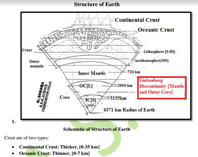 Environmental Science Earth Structure Material Lecture Notes PDF