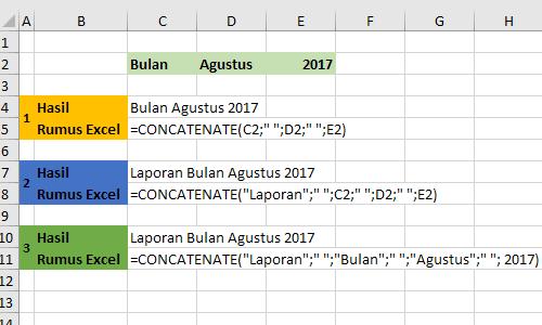 Contoh Fungsi-Rumus Concatenate Excel 1