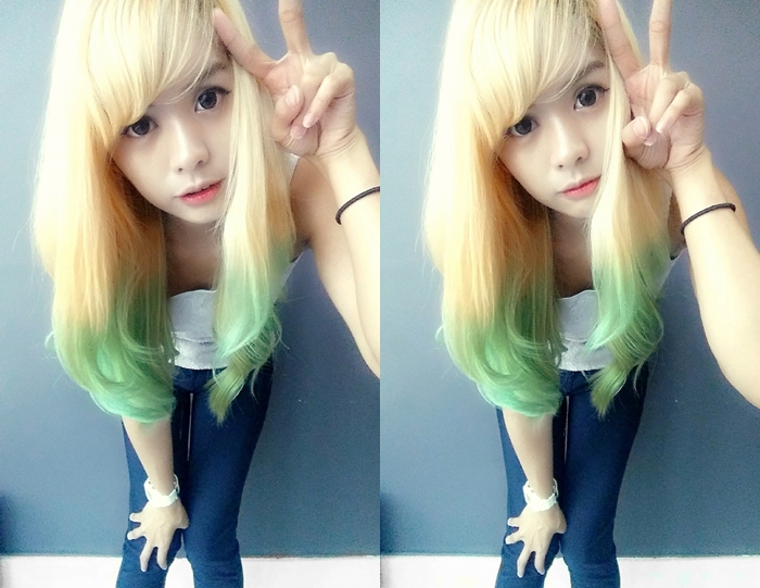 Green Hair Blonde