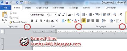 Pengertian Dialog Box Launcher Serta Contohnya