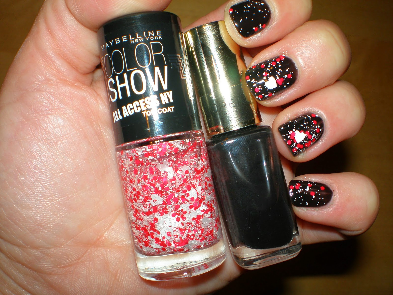 My manicure using Maybelline and L'oreal nail polishes