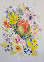Flower designs by  Caroline Van Rensburg