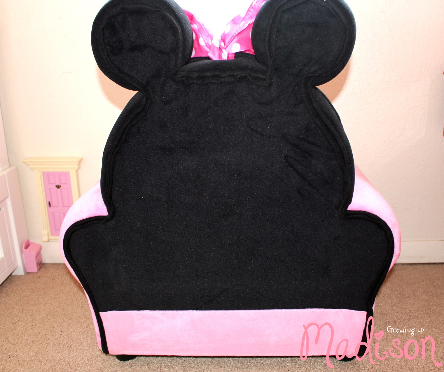 minnie mouse upholstered chair round comfy delta children furniture perfect for any child 39s room