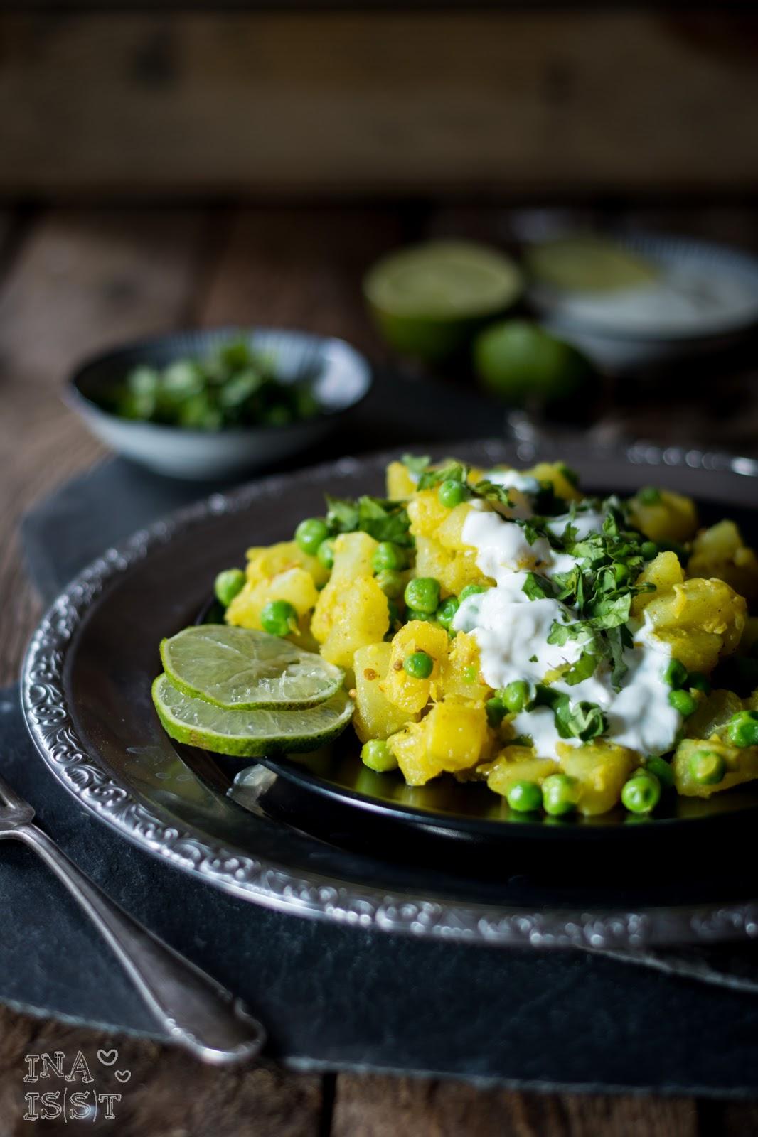 ina is(s)t: orientalisch vegetarisch: kartoffelsalat mit erbsen ... - Persische Küche Vegetarisch