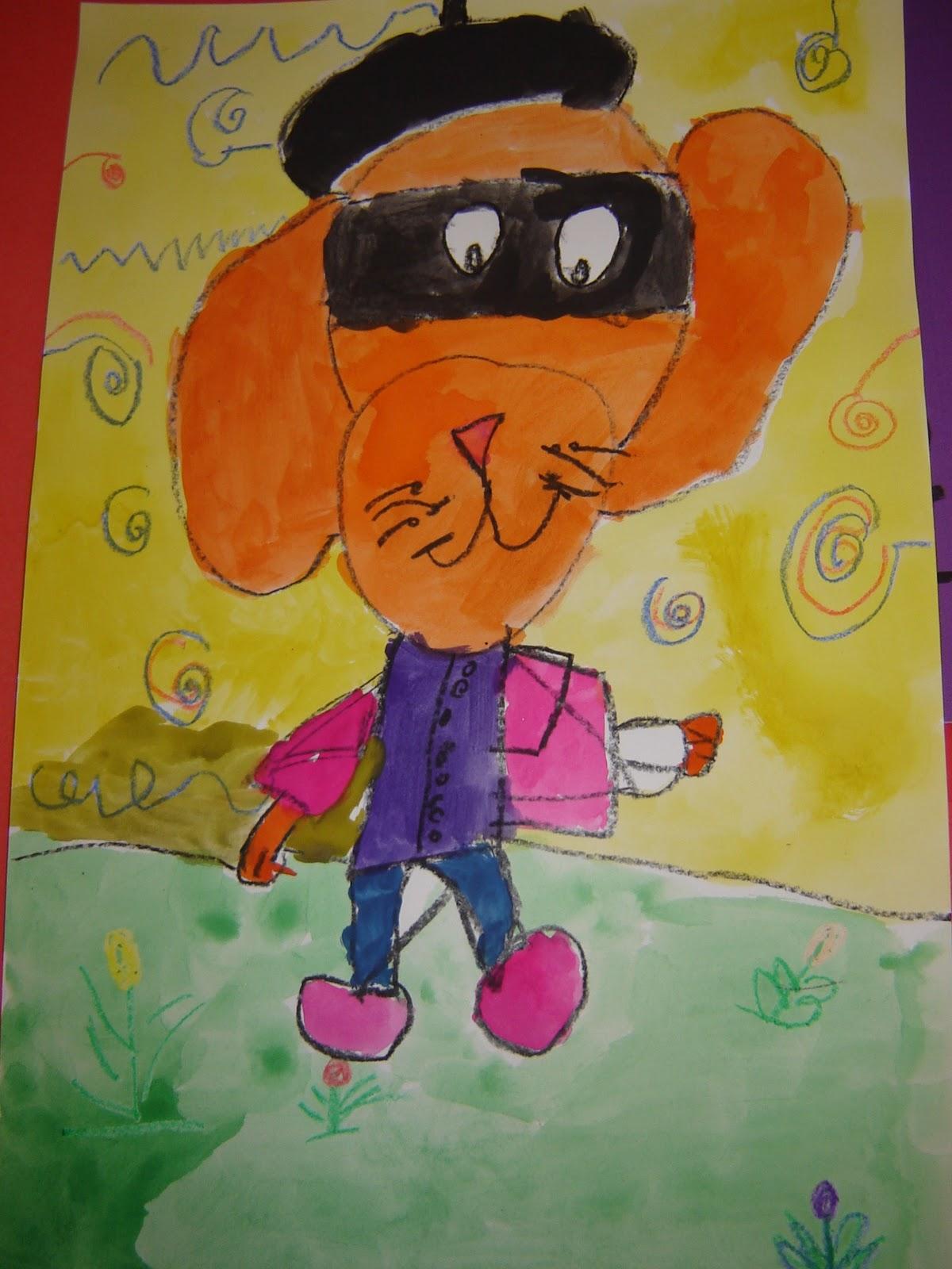 Jamestown Elementary Art Blog Kindergarten Art Dogs