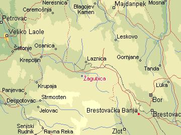 zagubica mapa Per@ Travel: ŽAGUBICA zagubica mapa