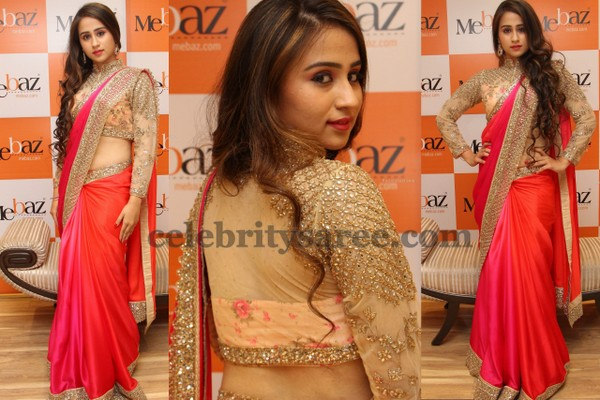 Angana Rai in Mebaz Saree