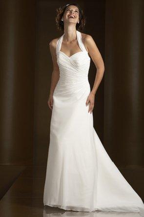 Big Shark Always On Fashion Halter Wedding Dress