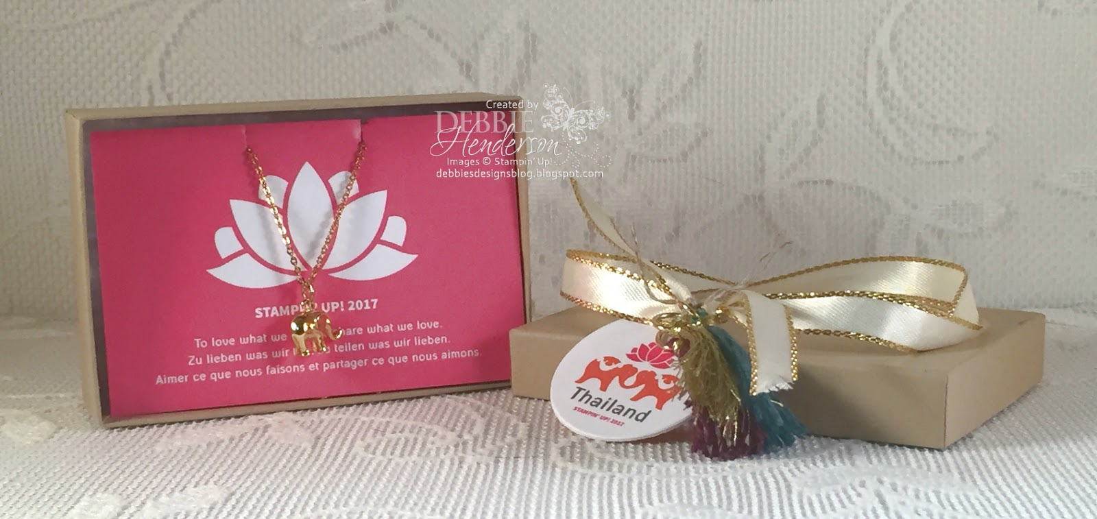 Debbie\'s Designs: Thailand Achievers Pillow Gifts in Thailand!