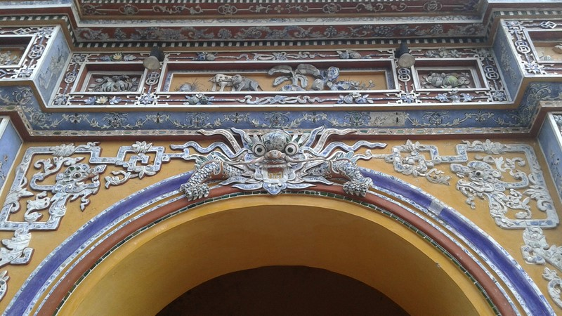 Detalle Edificio en la Ciudad Prohibida Púrpura de Hué
