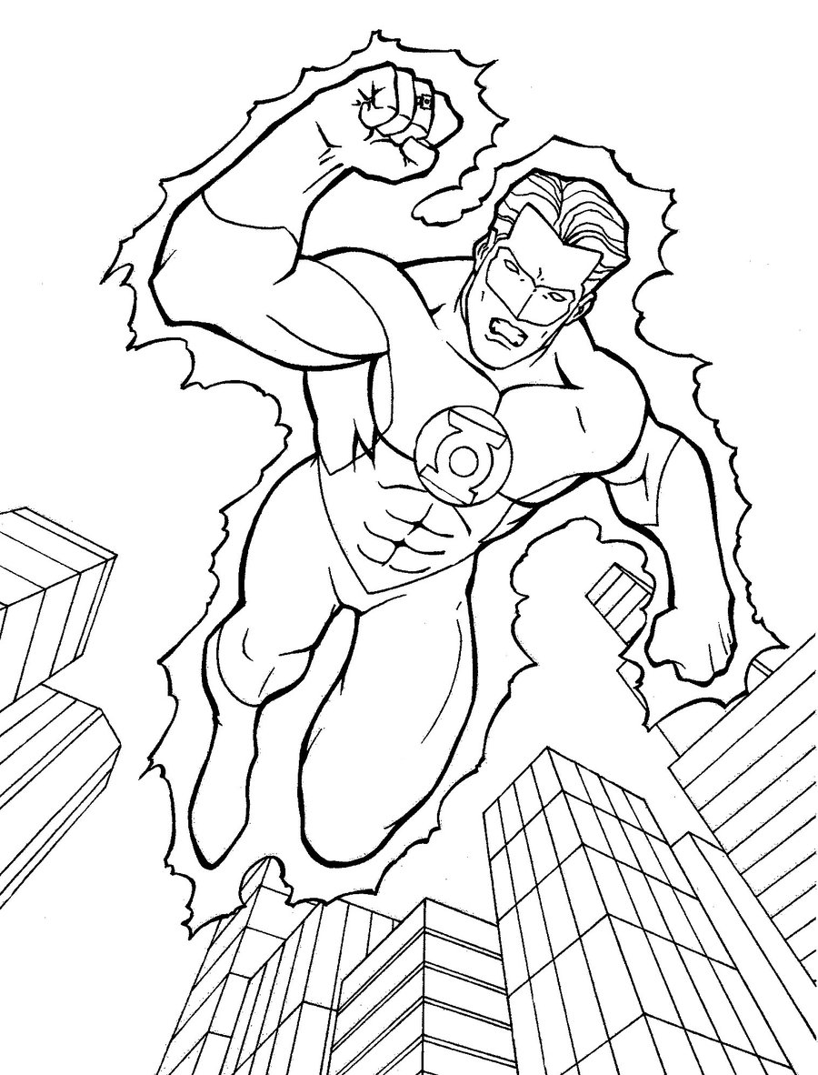 green lantern animated series coloring pages