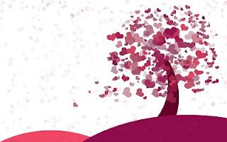 Albero viola e lilla