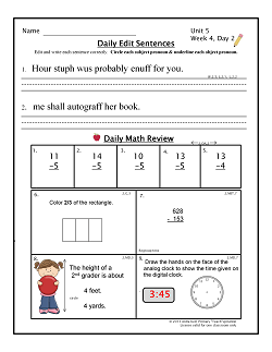 http://www.teacherspayteachers.com/Product/Common-Core-Morning-Work-2nd-Grade-BUNDLE-A-Daily-ELA-Math-Review-843388