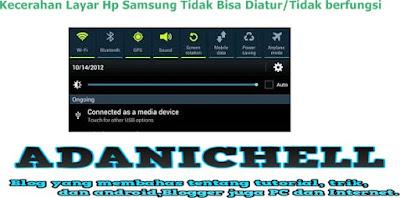 Kecerahan Layar Hp Samsung Tidak Bisa Diatur/Tidak berfungsi