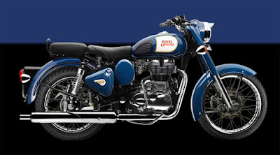 Royal Enfield Classic 350 side view blue Hd Wallpapers