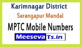 Sarangapur Mandal MPTC Mobile Numbers List Karimnagar District in Telangana State