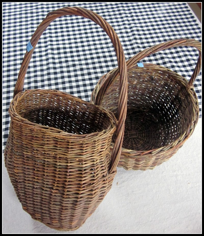 White Painted Baskets