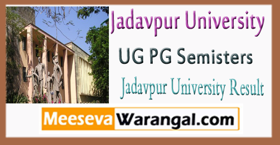 Jadavpur University UG PG Result 2018