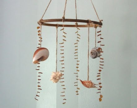 Hanging Shells Driftwood Amp Seaglass Call Them Mobiles Or