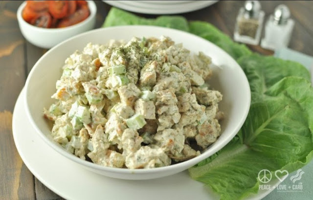 Dill Chicken Salad #paleo #lowcarb
