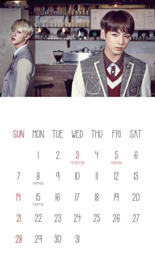 Photo 170427 Bts Jungkook X Smart 2017 May Calendar