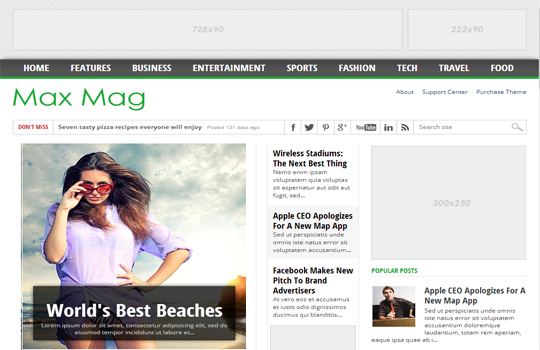 Max Mag - Magazine Responsive SEO Blogger Template