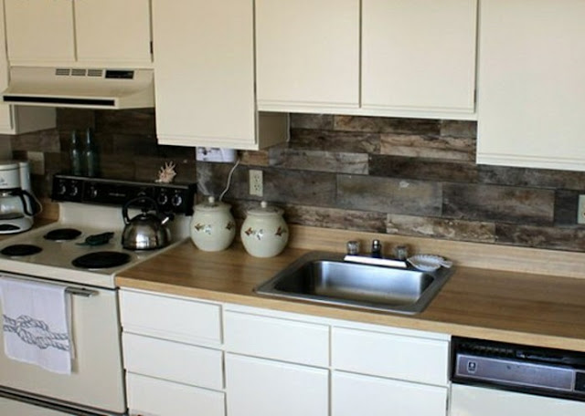 kitchen backsplash out of wood