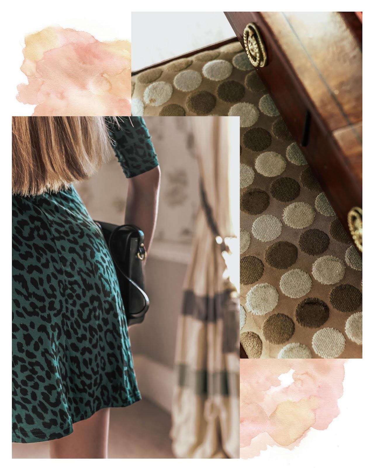 TKMaxx Green Leopard Print Mini Dress
