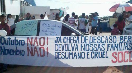 Parentes de vítimas de naufrágio no rio Amazonas paralisam empresa Bertolini